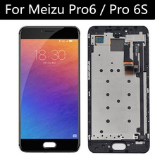 """5.2 """"עבור Meizu Pro6 Meizu pro 6 M570M M570C M570Q LCD תצוגה + מסך מגע Digitizer עצרת החלפת אביזרים"""
