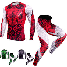 Thermal underwear set men's shirt compression underwear clothing long J