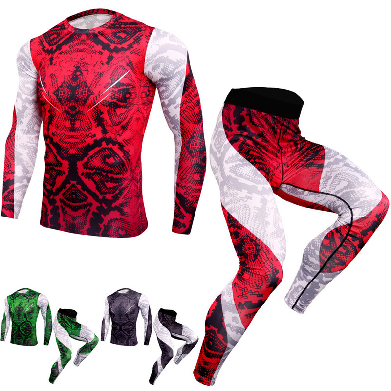 Compression Underwear Shirt Clothing Cycling Training John-Set Long Male Men's title=
