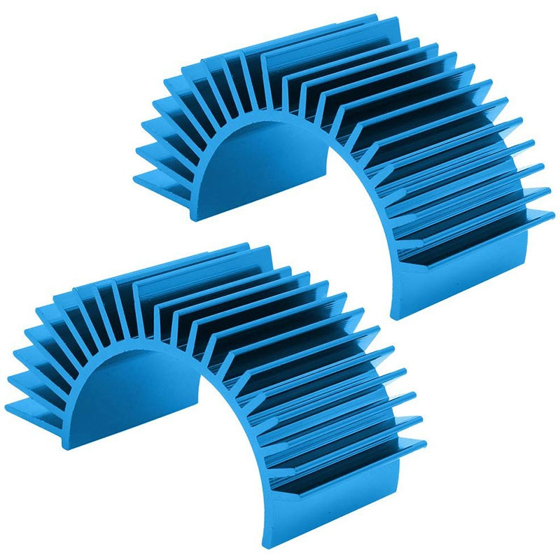 2 Pack Metal Electric Motor Heat Sink Cooling Fins For RS540 550 540 3650 Size RC Parts