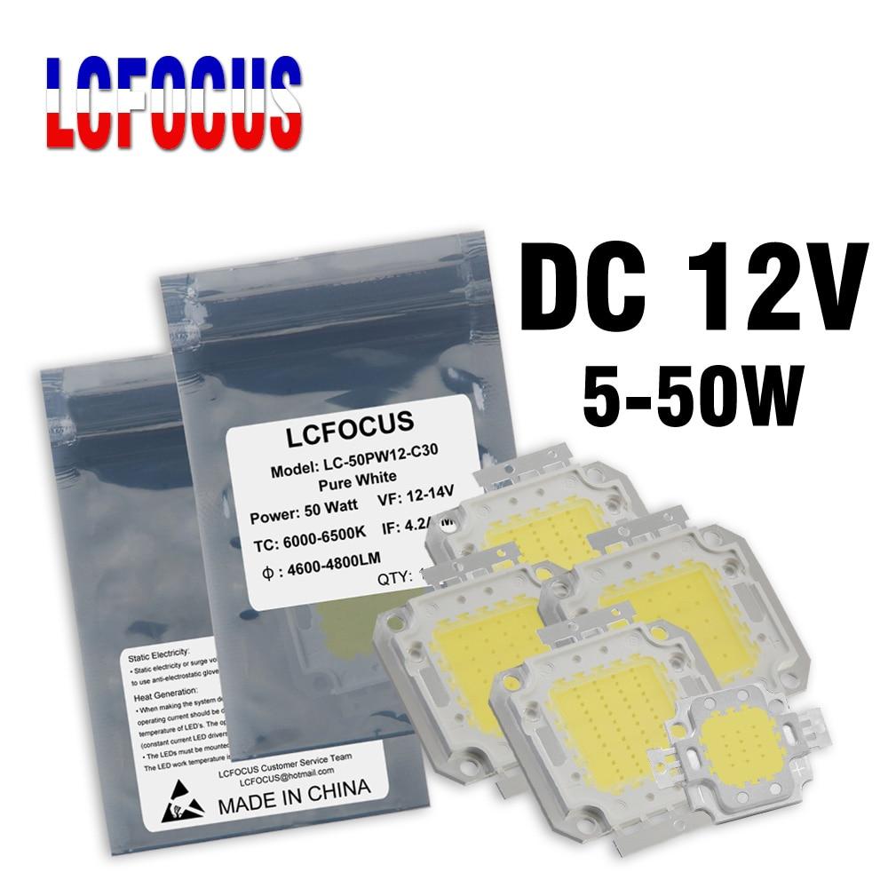 Светодиодный светильник 10 Вт 12 Вт 20 Вт 30 Вт 50 Вт супер яркий COB диод SMD DC 12 В не нужен драйвер для прожектор светильник Точечный светильник нар...