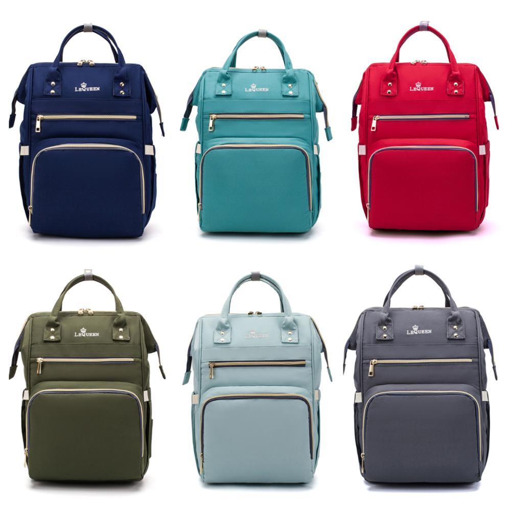 Lequeen Diaper Bag Oxford Cloth Backpack Large Storgage Handbag Multifunction  Diaper Bag Waterproof Nappy Bag Baby Care Travel