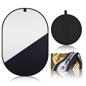 Image 2 - 150*200cm 4in1 Oval Collapsible Portable Reflector Disc Blue Green/Black White Screen Background Chromakey Panel for Photography