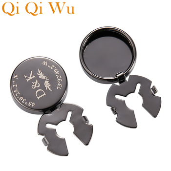 Personalised Mens Cover Cufflinks Wedding Cuff links Buttons Custom Engraved Logo Normal Suit Shirt Cufflink Round Jewelry Gifts personalized mens shirt cufflinks custom engraved cuff links buttons wedding gifts logo sliver round cufflink men jewelry cuffs