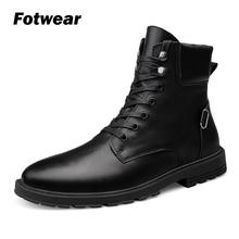 Fotwear Men Genuine leather Boots Classic Ankle Boot Tough man style shoes outdoor Motorcycle boots casual comfortable