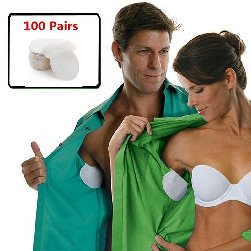 200Pcs/100Pairs Disposable Underarm Sweat Pads For Clothing Anti Sweat Armpit Absorbent Pads Summer Deodorants Shield Stickers