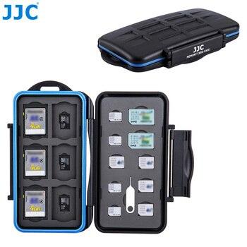 JJC wodoodporny futerał na kartę pamięci aparatu 6 SD, 6 TF, 2 SIM, 4 Micro SIM, 4 Nano SIM kompaktowy twardy schowek