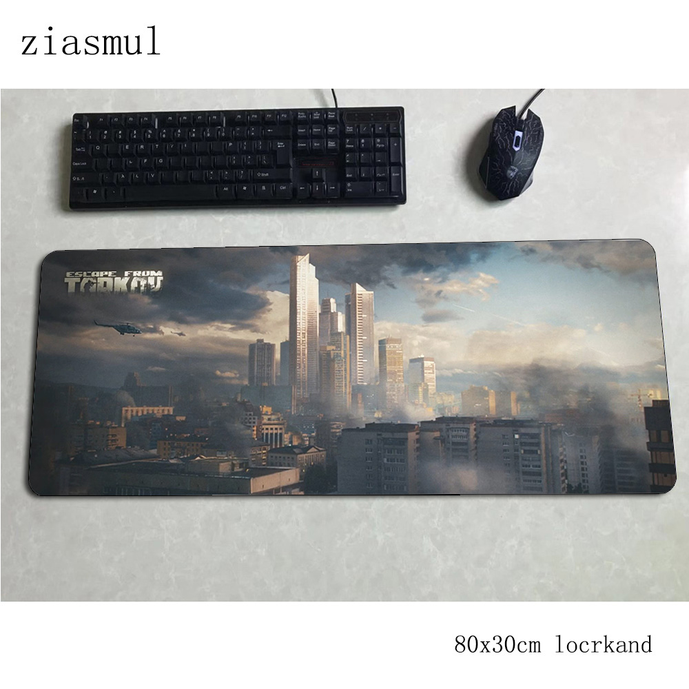 escape from tarkov mouse pad 80x30cm mats best Computer mouse mat gaming accessories xl large mousepad keyboard games pc gamer 1