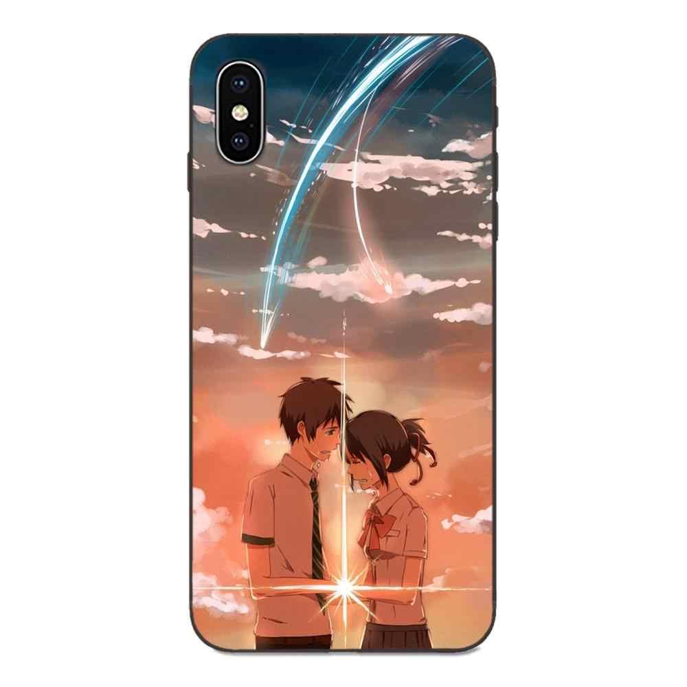 TPU Del Telefono di Disegno Anime Il Tuo Nome Per il iphone di Apple 4 4S 5 5S SE 6 6S 7 8 più di X XS Max XR
