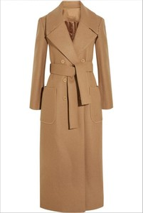 Image 5 - Solid Wide waisted Women Long Woolen Coat Double Breasted Warm Womens Jacket Elegant Casual Cashmere Coat and Jacket
