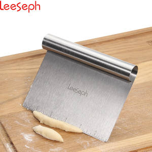Scraper Pizza-Dough-Cutter Chopper Kitchen-Tools Multi-Purpose Stainless-Steel Leeseph
