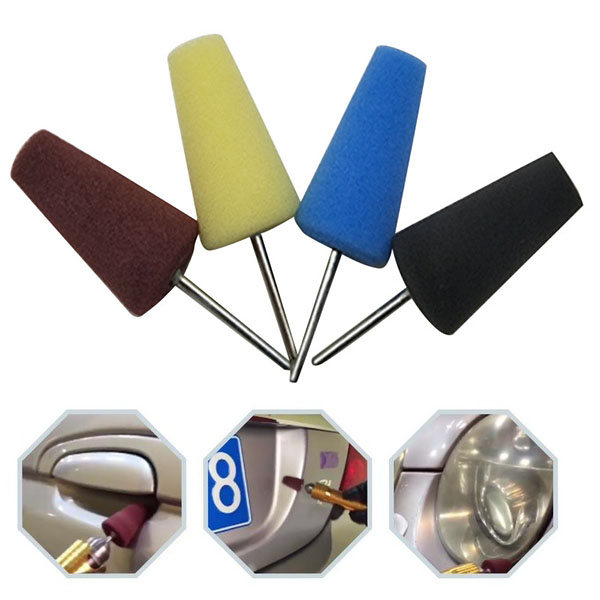 Car Accessories Car Cleaning Polishing Wheel Car Polishing Sponge Cone Shape Wheel Fender Bumper Concave Surface Cleaning Tool