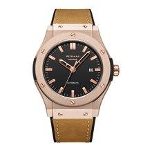 Mens Watches Top Brand Luxury Ruimas Mechanical Automatic Watch Gentlemen Wristwatch Genuine Leather Strap Analog Date Display все цены