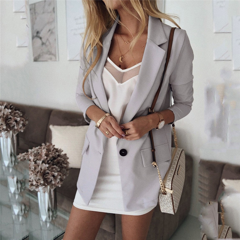 Blazer Women Womens Casual Blazer Ruched Long Sleeve Open Front Fit Office Cardigan Jacket  Wear Coat Blouse Blazer Coat