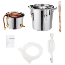 8L Wine Beer Alcohol Distiller Moonshine Alcohol Home DIY Brewing Kit Home Distiller Copper Distiller Equipment(China)