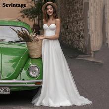 Простое платье трапециевидной формы в стиле «Бохо Свадебные