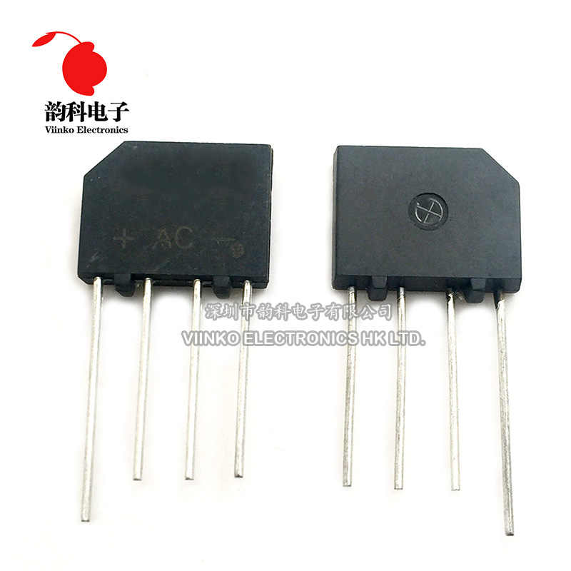 5PCS KBL406 KBL-406 4A 600V Einzelnen Phasen Diode Bridge Rectifier ZIP-4