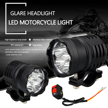2pcs Motorcycles Headlight 3-Modes 6500k White Super Bright  Working Spot Light Headlight Fog Spot Light Auxiliary lamps Switch спот spot light ibbie 2509328