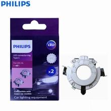 Philips LED konnektörler halka H7 C tipi 11172CX2 lambaları tutucu oto farı Hi/lo işın emin Fit orijinal aksesuarlar, çift