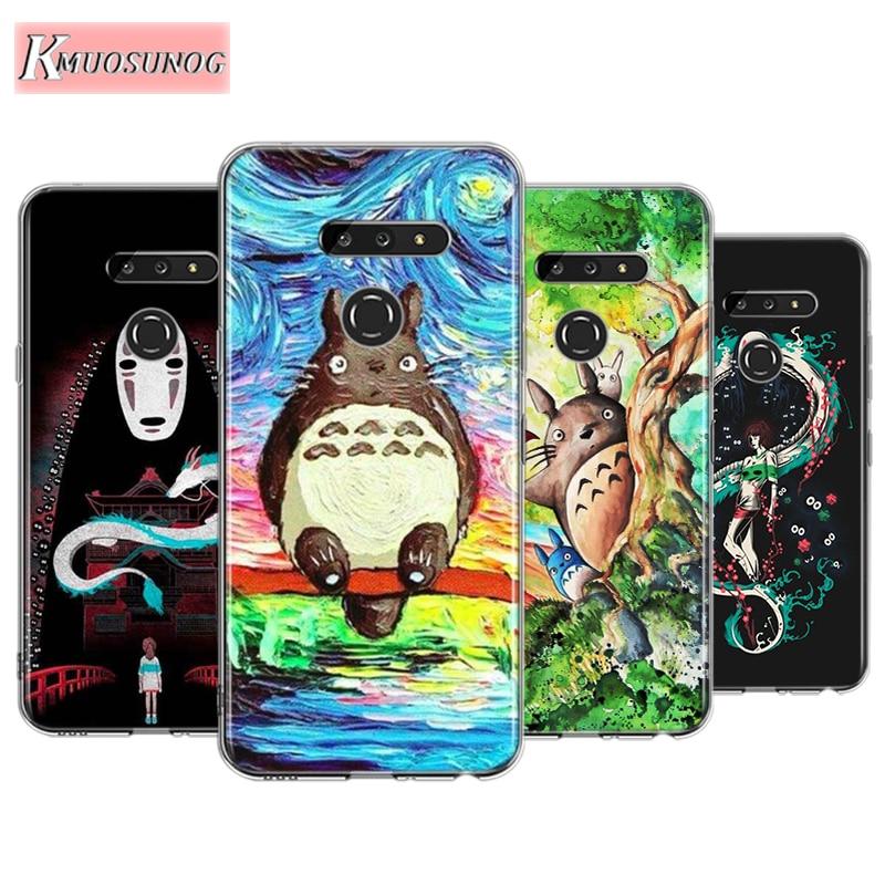 Anime Totoro Ghibli Spirited For LG W30 W10 V50S V50 V40 V30 K50S K40S K30 K20 Q60 Q8 Q7 Q6 G8 G7 G6 Thinq Phone Case