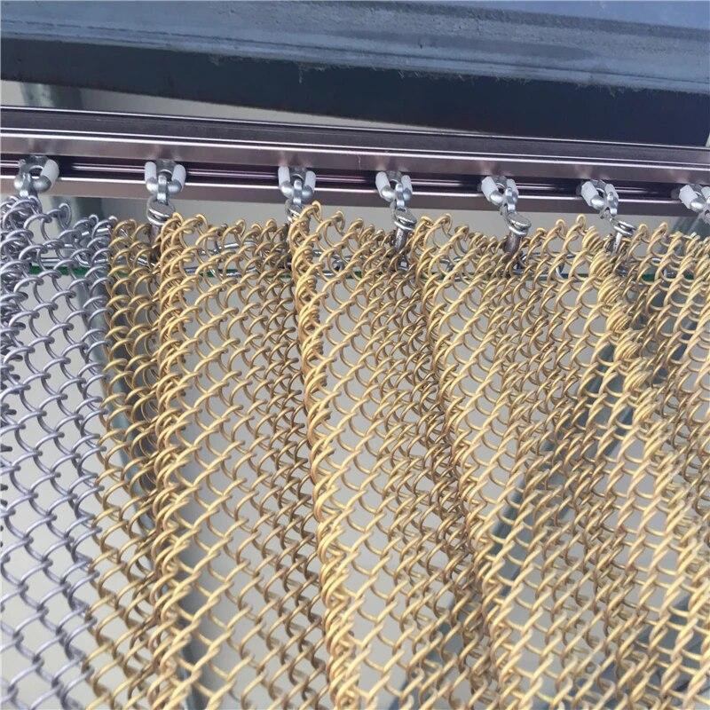 flexible metal coil drapery window wire mesh curtain chain link curtain