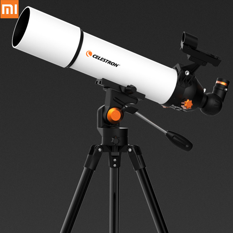 Xiaomi Mijia Celestron Astronomical Telescope SCTW-80 Built In Theodolite FMC Antireflection Coating Portable With Carry Bag