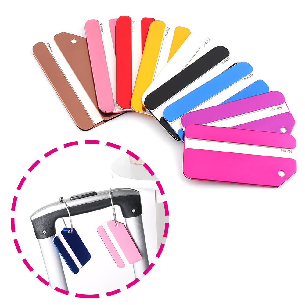 New 1PC Travel Luggage Label Aluminum Alloy Straps Suitcase Name ID Address Luggage Tags Travel Accessories Drop Shipping