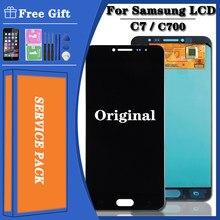 Ensemble écran tactile LCD Super AMOLED de remplacement, pour Samsung Galaxy C7 C7000, Original