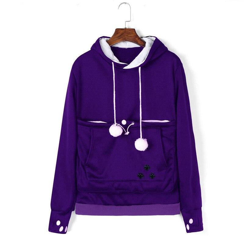 Hirigin Women's Hoodie Long Sleevefashion  Sweatshirt Female Coat Jumper Hip-hop New Pullover Tops Ladies Pockets Solid Top