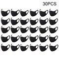 Горячая Распродажа 1/20/30 шт унисекс моющиеся черная маска для лица многоразовая 3D дизайн маска против пыли крышку рот mascarillas lavables