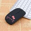 Беспроводная мышь Милая Hello Kitty ультра тонкая компьютерная мышь 1600DPI USB оптическая игровая мышь для ПК ноутбука подарок для девочки