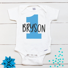 Personalized 1st Birthday Onesies,First Birthday Boy Outfit,Birthday Boy romper,Birthday Boy Name set,Cake Smash,Birthday Shirt(China)