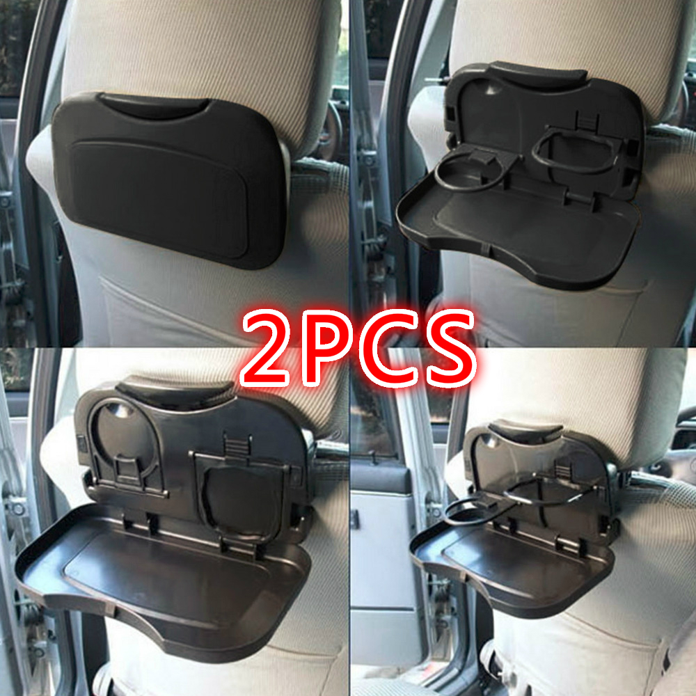 2PCS Folding Universal Car Bracket For Food Tray Drink Holder Auto Back Rear Seat Table Cup Tray Phone Holder Car Storage Box
