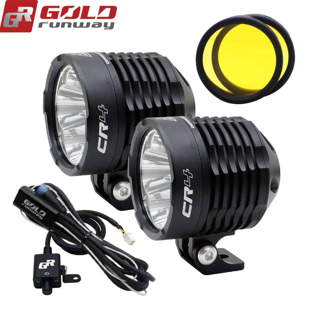 GOLDRUNWAY GR-CR4 3800lumen 35W Fully dimmable auxiliary motorcycle lights