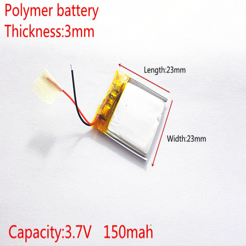 Liter energy battery 302323 3.7V 150mah 302424 <font><b>302525</b></font> Lithium polymer Battery with Protection Board For MP3 MP4 MP5 GPS image