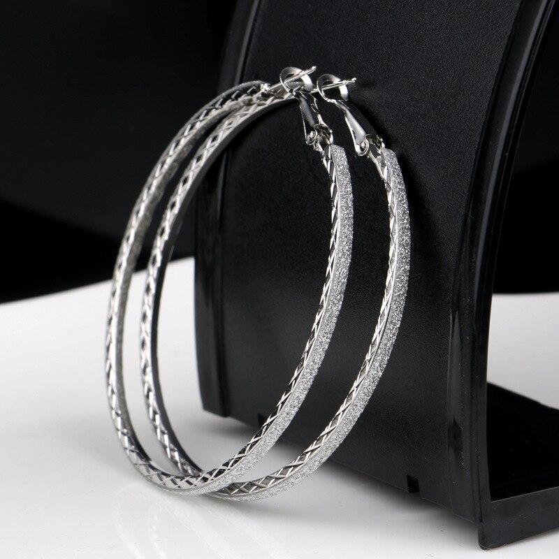 Лидер продаж, модные женские серьги-кольца с принтом зебры из матового серебра, большие вечерние ювелирные изделия, женские серьги в подарок - Окраска металла: 6-silver