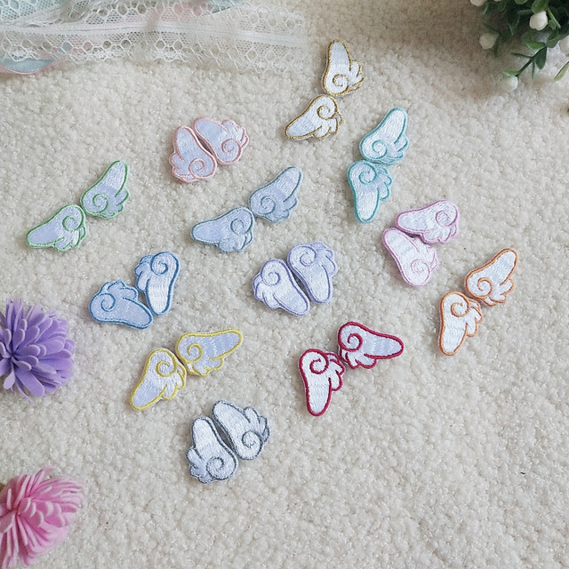 Self-adhesive Wings Clothes Patches for Stripes Clothing Stickers Iron on Transfer Appliques Embroidery Badges for Backpack