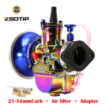 ZSDTRP 1 Set Universal 21 24 26 28 30 32 34 2T 4T For PWK Carburetor Motorcycle Carburador With Adapter Air Filter For 75-250cc