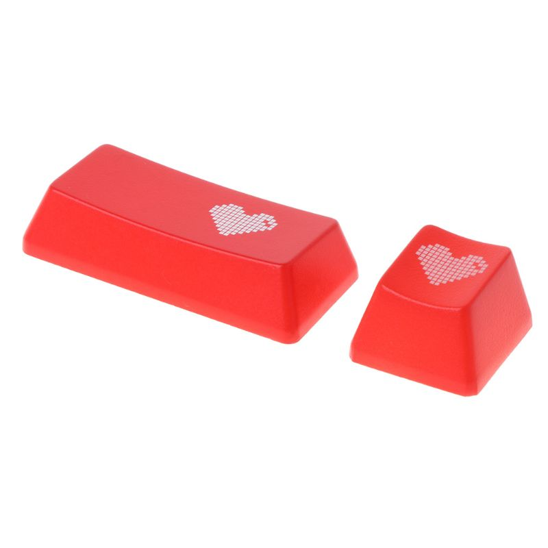 Red Love Heart Pattern Keyboard Keycap Mechanical ENTER/ESC Key Cap Hat for PC Computer Notebook Use Supplies