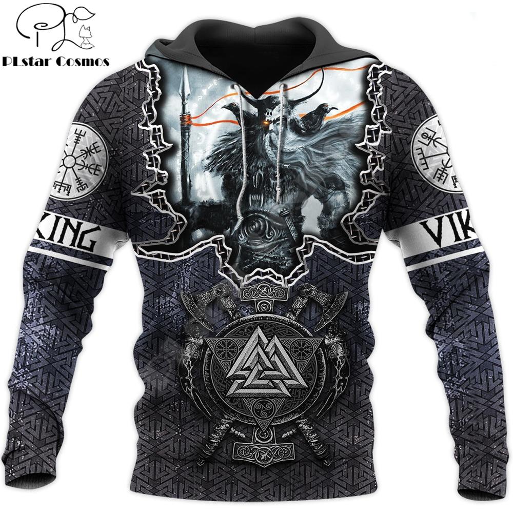 Fashion Mens Viking hoodies 3D printed Tattoo Odin Sweatshirt Hoodie Harajuku Autumn Streetwear Unisex Casual Tracksuit DW0120
