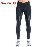 Santic Men Long Cycling Pants Spring Autumn Quick Dry Breathable 4D Cushion Padding Outdoor Sport Professional Riding Trousers