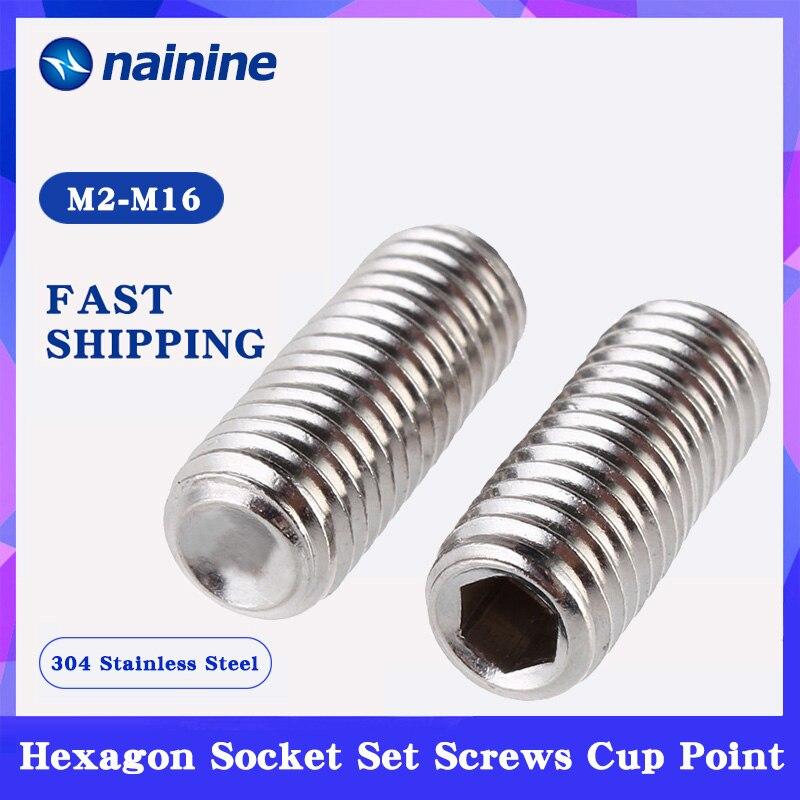 [M2-M16] 304 parafusos de aleta de prancha de aço inoxidável interior encanta o soquete do ponto do copo conjunto parafuso din916