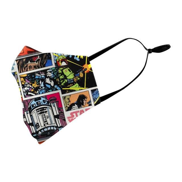 American comic book Star Wars Miles Morales Cosplay Kids Face Mask Dustproof Adult Masks 2