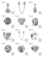 Fit Original Pandora Charms Bracelet 925 Sterling Silver Infinity Hearts amp Stars Love Couple bead DIY Jewelry Making Berloque cheap NAmour CN(Origin) Beads NONE F324 CCGTC Round Shape Fine