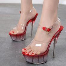 Сандалии женские на тонком высоком каблуке босоножки платформе