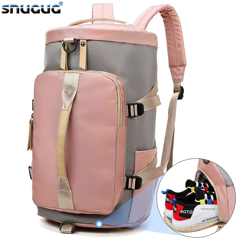 Outdoor Gym Backpack Woman New Fitness Backpack Women Waterproof Gym Bag Shoe Compartment Mujer Sac De Sport Gymtas Femme