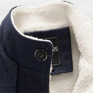 Image 5 - Bolubao casaco masculino de lã, de 2020, para o inverno, cor sólida, grosso sobretudo