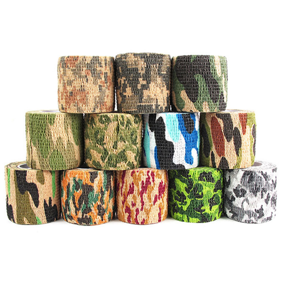 Camouflage Tape 5cmx4.5m Army Camo Outdoor Hunting Shooting Tool Camouflage Stealth Tape Waterproof Wrap Durable 2019