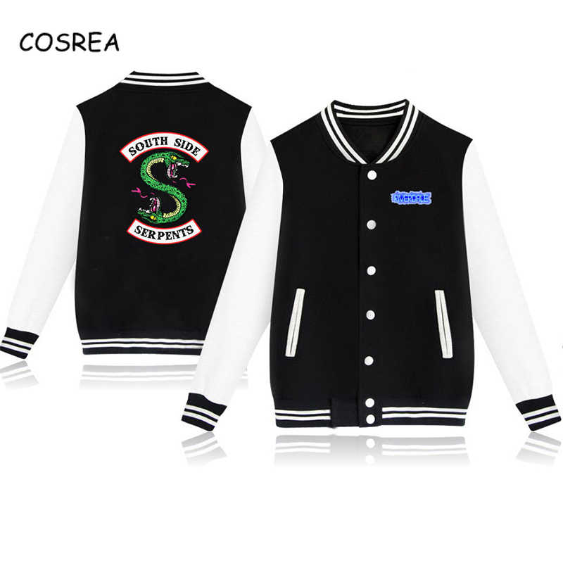 American TV South Side Serpents Riverdale Southside Women Fashion Jacket South Side Mens Female Fans Casual Baseball Jacket