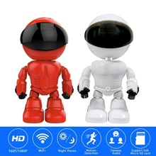 2 pcs wifi camera 1080p hd 2 0mp wireless ip security camera two way audio tf card record smart p2p waterproof bullet camera HD 1080P WiFi Robot IP mini Camera Pan Tilt Security WiFi Camera P2P Night vision Motion Detection Two way Audio Support TF Card
